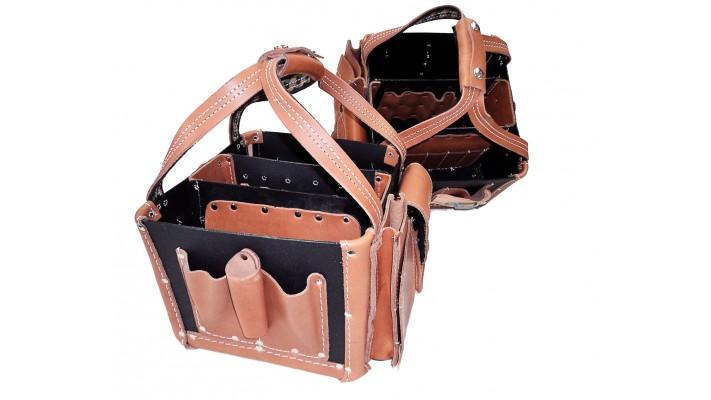 Porte-outils cubique - cuir et plastique